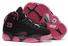 http://www.bigkidsjordanshoes.com/kids-air-jordan-retro-21-black-pink-for-sale.html KIDS AIR JORDAN RETRO 21 BLACK PINK FOR SALE Only $0.00 , Free Shipping!