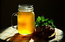 Russian cuisine -Kvass, a bread based drink and a key ingredient in many soups