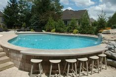 Residential and commercial custom swimming pool builder, complete with service d. - Pool - Women's Need Above Ground Pool Landscaping, Above Ground Pool Decks, Backyard Pool Landscaping, Backyard Pool Designs, Above Ground Swimming Pools, Small Backyard Pools, In Ground Pools, Landscaping Ideas, Diy In Ground Pool