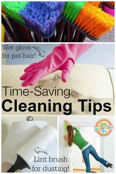 Get your housework done faster with these awesome time-saving cleaning tips.