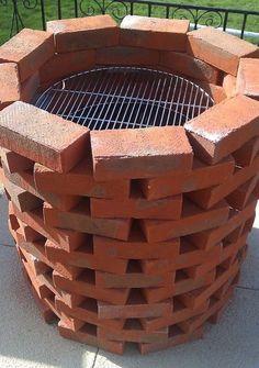Handmade Brick BBQ Grill : Brick BBQ Grill Parts. Brick bbq grill parts. Fire Pit Backyard, Backyard Patio, Backyard Landscaping, Modern Backyard, Patio Kitchen, Diy Outdoor Kitchen, Outdoor Kitchens, Kitchen Kit, Kitchen Grill