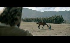"#AdoftheWeek 17 June 2015: ""The horse whisperer."" Nedbank ""Reins"" TVC screengrab: filly meeting the horse whisperer."