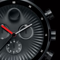Details we like / Watch / Surface / Red / Numbers / Black / Sporty / at lemanooh