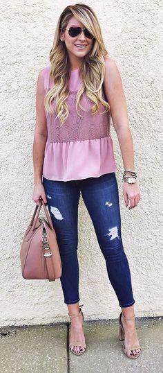 stylisj ootd top + rips + bag + heels