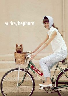 Could someone look classier riding a bike? #styleicon #audrey #bike