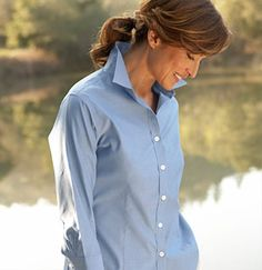 Wrinkle-Resistant Pinpoint Oxford Shirt, Long-Sleeve: Oxford | Free Shipping at L.L.Bean
