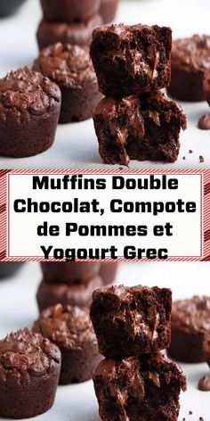 Desserts With Biscuits, Mini Desserts, No Bake Desserts, Healthy Desserts, Easy Desserts, Delicious Desserts, Dessert Recipes, Muffins Double Chocolat, American Desserts