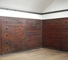 shaker built ins in the attic of the Central Family Dwelling, How amazing is this! The Shakers would store seasonal clothing here. Each drawer is lettered and numbered to correspond with a sister or brother's room. Estilo Shaker, Brothers Room, Armoire, Shaker Furniture, Interior Windows, Interior Decorating, Interior Design, Cottage, Shaker Style