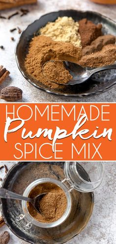 Save some money this fall by making your own Homemade Pumpkin Pie Spice with a few pantry staples you're bound to have! This simple recipe can be used seamlessly in all of your pumpkin treat recipes, from cookies and lattes to that famous pie! Recipe Using Pumpkin, Homemade Pumpkin Pie, Pumpkin Recipes, Fall Recipes, What Is Pumpkin Spice, Pumpkin Pie Spice, Best Dessert Recipes, Fun Desserts, Sweets Recipes