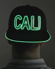 Light Up CALI Hat Normal Hat By Day, Light Up Snapback by Night! Adjustable Hat, One Size Fits All. Takes One AAA Battery, hidden comfortably inside the hat. Discount Online Shopping, Online Shopping Deals, Light Up Hats, Light Up Clothes, Deep House Music, Festival Outfits, Festival Clothing, Neon Party, Rave Outfits