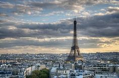 Eiffel Tower view from the Arc de Triomphe, Paris