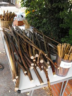 Music and Rhythm Outdoors at The Coombes School - rythm sticks