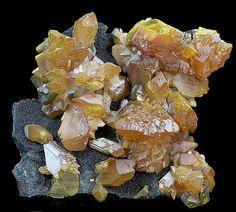 Orpiment Crystals on Matrix --  Twin Creeks Mine, Humbolt County, Nevada