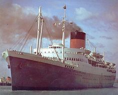 This is RMS Edinburgh Castle of Union Castle line built in 1948 she served in the mail service until 1978 when she was sold. I was Fourth officer in 1963 South African Railways, Hms Hood, Ocean Cruise, Merchant Navy, Sea Crafts, Edinburgh Castle, Tug Boats, Cruise Ships, Ship Art