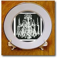 1920s Chrystal Chandelier - 8 Inch Porcelain Plate $34.99