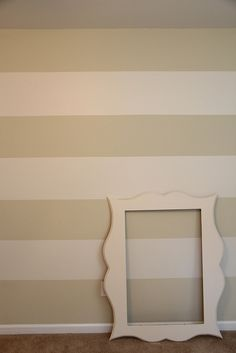 The lazy way for painting stripes...love it! I really want to re-do our master this Summer....
