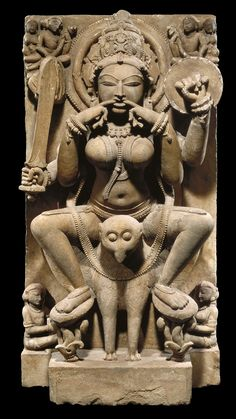 Yogini India, Uttar Pradesh, Kannauj First half of the 11th century Sandstone San Antonio Museum of Art, purchased with the John and Karen M...