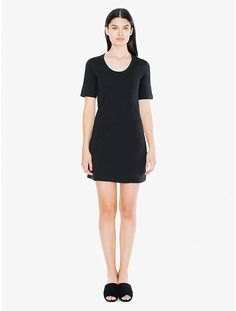 AA fine jersey tshirt dress in size Large. I have it in navy, need it in black. $32