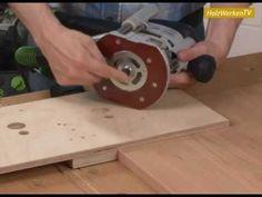 Exzentrisch: Möbelverbinder clever und fix einfräsen! wenn man sich den Kauf der Hettich Bohrschablone ersparen will !
