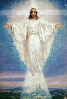 Jesus Son Of God, Mary And Jesus, Jesus Christ Painting, Jesus Art, Pictures Of Jesus Christ, Religious Pictures, Christian Images, Christian Art, Croix Christ