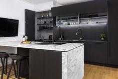 Kitchen Showroom, Functional Kitchen, Sydney, Black Kitchens, Modern Kitchen Design, New Kitchen, Living Spaces, Minimalist, Furniture