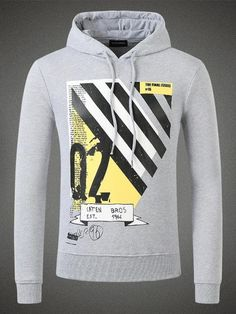 Stripes Hooded Sweatshirt Grey Men is available in Dsquared Sale and  Dsquared Outlet online store including jeans sale.