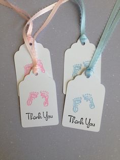 Baby Footprints Baby Shower Baby Footprints by MooMooHandmadeCards