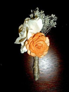 Wedding Boutonniere- Shabby chic wedding, rustic wedding, vintage wedding, handmade wedding