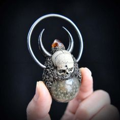 Hand Sculpted Realistic Skull Series Pendant A Real Dandelion