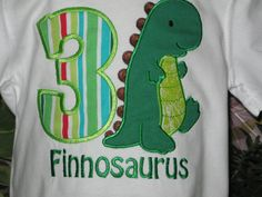 Custom Boy's Dinosaur Birthday Shirt with Free Personalization by WestPointStitches on Etsy