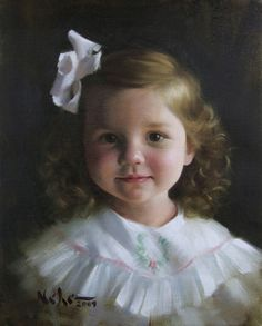 Child portrait painting Brian Neher
