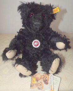 Steiff 1912 Titanic Mourning bear in black Mohair - Steiff 1912 Titanic Mourning bear in black Mohair