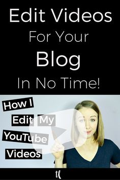 Editing videos doesn't have to be overwhelming and take a lot of time.  Remember to keep it simple.  The content is what matters the most in your video.  Click through to watch my video on tops tips on how to edit videos and make your first video for your blog!