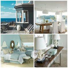 Hamptons style- top left- view for ocean Seaside Decor, Beach House Decor, Coastal Decor, Home Decor, Coastal Homes, Coastal Living, Home And Living, Hamptons House, The Hamptons