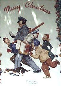 Norman Rockwell - Jolly Postman - Merry Christmas - By: Norman Rockwell