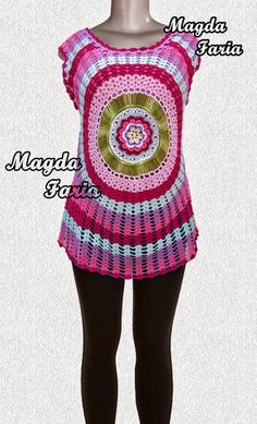 Crochê Magda Faria : Blusa Caribe