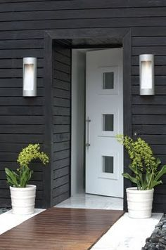 *entrances, modern design, architecture, doors, siding, outdoor lighting* - modern curb appeal
