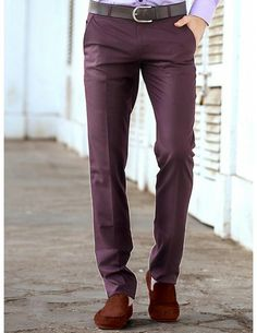 Buy Dusty Purple Slim Fit Trouser Online. http://www.bharatplaza.com/mens-wear/trousers.html