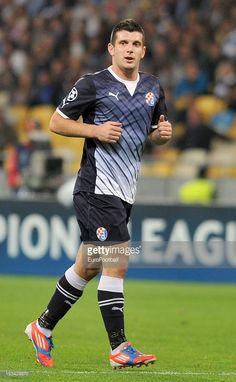 Fatos Beqiraj of GNK Dinamo Zagreb in action during the UEFA Champions League group stage match between FC Dynamo Kyiv and GNK Dinamo Zagreb at the Olimpiyskiy National Sports Complex on October 3, 2012 in Kiev, Ukraine.