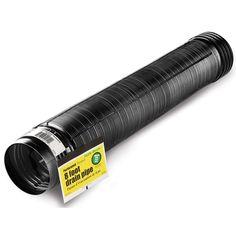 Flex Drain 54022 8' Perforated Flexible & Expandable Landscape Drain Pipe
