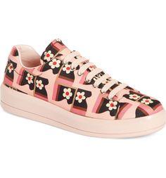 Main Image - Prada Floral Sneaker (Women)