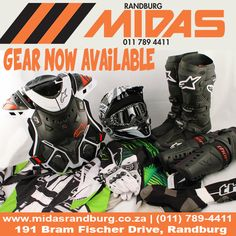 @RandburgMidas & @alpinestars_sa have you covered when it comes to #onroad & #offroad riding #gear (011) 789-4411   marco@midasrandburg.co.za
