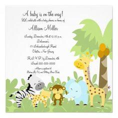 11 Super Safari Baby Shower Invitations