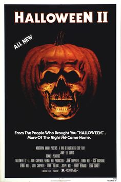 Halloween II 1981, original movie poster.