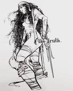 Elektra by Eric Canete  #marvel #art #illustration #comics #daredevil