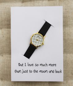 I Love You Much More Than To The Moon And Back Card Black Band Dots Case Girl…