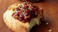 Spread this savory bacon jam on bread for a holiday appetizer and send your guests home with a jar.