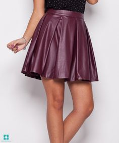 This Red Faux Leather Circle Skirt - Women by Katrus is perfect! Skater Skirt, Midi Skirt, Everyday Steampunk, Girly Girl, Cotton Tee, Heather Grey, Street Wear, Tees, Skirts