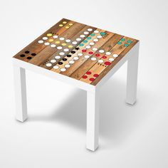 Möbelfolie Spieltisch Mensch ärgere dich nicht für deinen Lack Tisch