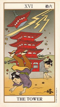 The Tower - Ukiyoe Tarot